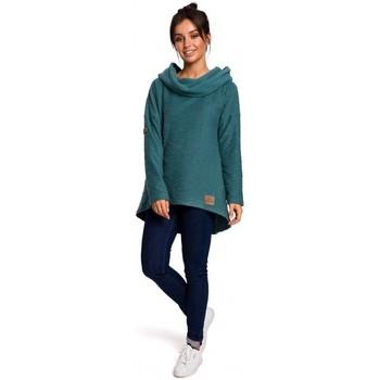 Oblečenie Ženy Mikiny Be B131 Pulóver s vysokým golierom - tyrkysový
