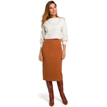 Oblečenie Ženy Sukňa Style S171 Ceruzková sukňa s vysokým pásom - ryšavá