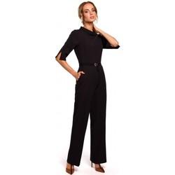 Oblečenie Ženy Módne overaly Moe M463 Kombinéza so stojacím golierom - čierna