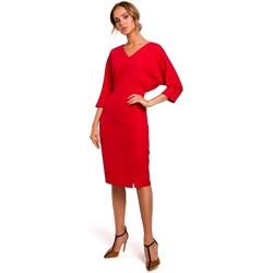 Oblečenie Ženy Krátke šaty Moe M464 Šaty s netopierími rukávmi - červené