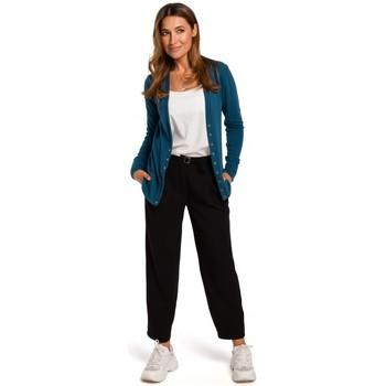 Oblečenie Ženy Svetre Style S198 Sveter s cvočkami - oceánsky modrý