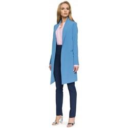 Oblečenie Ženy Oblekové saká Style S071 Dlhé sako - modré