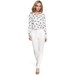 Oblečenie Ženy Nohavice Moe M303 Rovné nohavice - ecru