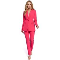 Oblečenie Ženy Oblekové saká Moe M304 Bunda s jedným gombíkom - ružová