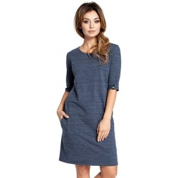 Oblečenie Ženy Krátke šaty Be B033 Šaty s posunom v tvare krabice - tmavomodré