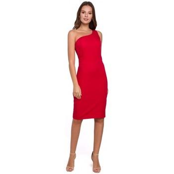 Oblečenie Ženy Krátke šaty Makover K004 Šaty v tvare ceruzky s výstrihom do V - čierne