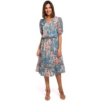 Oblečenie Ženy Krátke šaty Style S215 Šifónové šaty s volánovým lemom - model 4