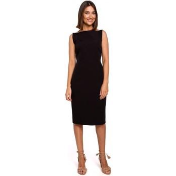 Oblečenie Ženy Krátke šaty Style S216 Šaty v tvare ceruzky bez rukávov - čierne