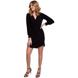 Oblečenie Ženy Šaty Makover K044 Prestrihávané šaty - čierne