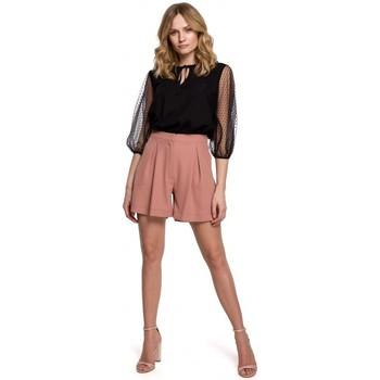 Oblečenie Ženy Šortky a bermudy Makover K049 Uvoľnené šortky - ružové