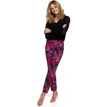 Oblečenie Ženy Nohavice Makover K053 Slim nohavice s potlačou - model 2