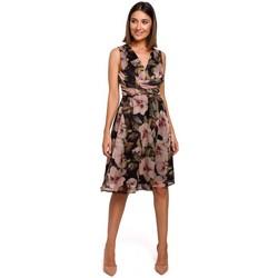 Oblečenie Ženy Šaty Style S225 Šifónové šaty s hlbokým výstrihom - model 4