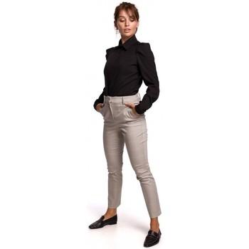 Oblečenie Ženy Košele a blúzky Be B165 Košeľa s puzdrovým rukávom - čierna