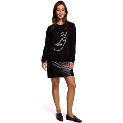 Oblečenie Ženy Mikiny Be B167 Pulóver s potlačou vpredu - čierny