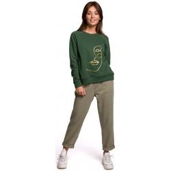 Oblečenie Ženy Mikiny Be B167 Pulóver s potlačou vpredu - zelený trávnik