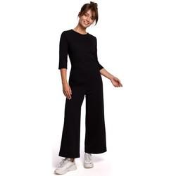 Oblečenie Ženy Módne overaly Be B174 Kombinéza so širokými nohavicami - čierna