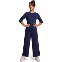 Oblečenie Ženy Módne overaly Be B174 Kombinéza so širokými nohavicami - modrá
