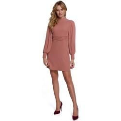 Oblečenie Ženy Krátke šaty Makover K077 Šaty s flamencovým volánom - ružové