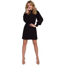 Oblečenie Ženy Krátke šaty Makover K077 Šaty s flamencovým volánom - čierne