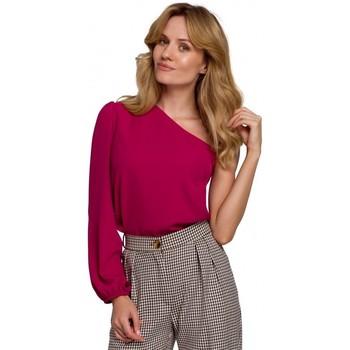 Oblečenie Ženy Blúzky Makover K080 Top na jedno rameno - slivka