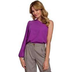 Oblečenie Ženy Blúzky Makover K080 Top na jedno rameno - levanduľový