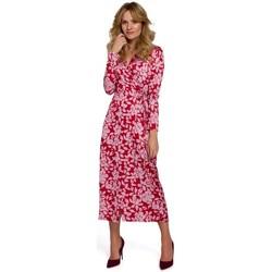 Oblečenie Ženy Dlhé šaty Makover K083 Zavinovacie šaty s kvetinovou potlačou - model 2
