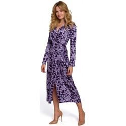 Oblečenie Ženy Dlhé šaty Makover K083 Zavinovacie šaty s kvetinovou potlačou - model 3
