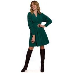 Oblečenie Ženy Krátke šaty Makover K087 Šaty s kimonovými rukávmi - zelené