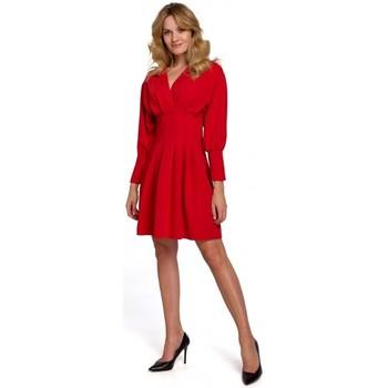 Oblečenie Ženy Krátke šaty Makover K087 Šaty s kimonovými rukávmi - červené