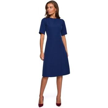 Oblečenie Ženy Krátke šaty Style S240 Zavinovacie šaty - púdrové