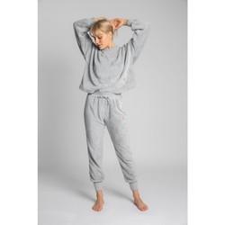 Oblečenie Ženy Tepláky a vrchné oblečenie Lalupa LA004 Fluffy Knit Joggers - svetlosivé