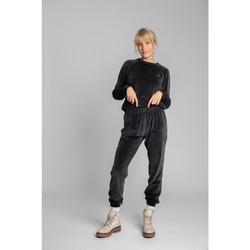 Oblečenie Ženy Tepláky a vrchné oblečenie Lalupa LA012 Zamatové džogery - grafitové
