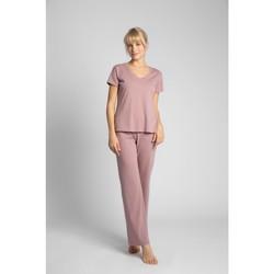 Oblečenie Ženy Blúzky Lalupa LA014 Bavlnený top s výstrihom do V - vres