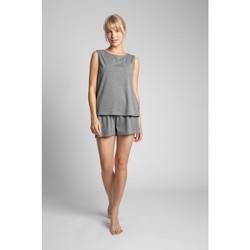 Oblečenie Ženy Blúzky Lalupa LA015 Bavlnený top bez rukávov - sivý