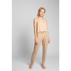 Oblečenie Ženy Pyžamá a nočné košele Lalupa LA025 Viskózové pyžamové nohavice - cappuccino