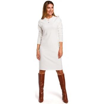 Oblečenie Ženy Krátke šaty Style S178 Svetrové šaty s dlhým rukávom - ecru