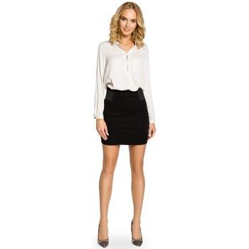 Oblečenie Ženy Sukňa Moe M042 Hladká minisukňa s elastickým pásom - čierna