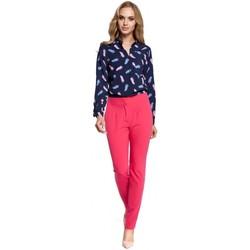 Oblečenie Ženy Padavé nohavice Moe M303 Rovné nohavice - ružové