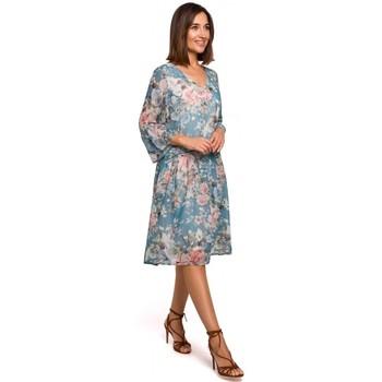 Oblečenie Ženy Krátke šaty Style S214 Šifónové šaty so spadnutým pásom - model 4