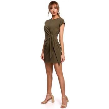 Oblečenie Ženy Krátke šaty Moe M508 Mini šaty s uzlom - khaki
