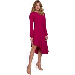 Oblečenie Ženy Dlhé šaty Makover K077 Šaty s flamencovým volánom - slivka