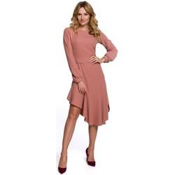 Oblečenie Ženy Dlhé šaty Makover K077 Šaty s flamencovým volánom - ružové