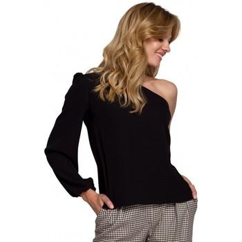 Oblečenie Ženy Blúzky Makover K080 Top na jedno rameno - čierny