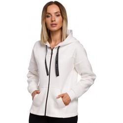 Oblečenie Ženy Mikiny Moe M550 Mikina s kapucňou na zips - ecru