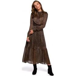 Oblečenie Ženy Dlhé šaty Style S239 Ceruzkové šaty s opaskom na zaväzovanie - čierne