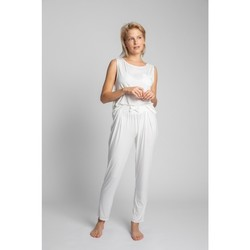 Oblečenie Ženy Pyžamá a nočné košele Lalupa LA025 Viskózové pyžamové nohavice - ecru