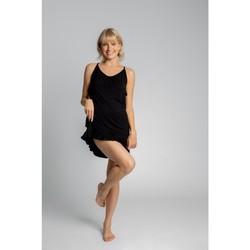 Oblečenie Ženy Pyžamá a nočné košele Lalupa LA031 Viskózová košieľka - čierna