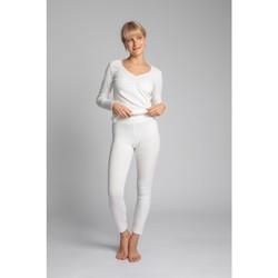 Oblečenie Ženy Legíny Lalupa LA035 Bavlnené legíny s rebrovaním - ecru