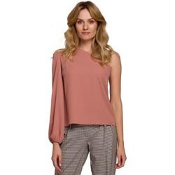 Oblečenie Ženy Blúzky Makover K080 Top na jedno rameno - ružový