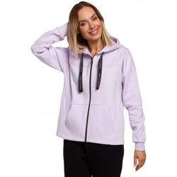 Oblečenie Ženy Mikiny Moe M550 Mikina s kapucňou na zips - lila